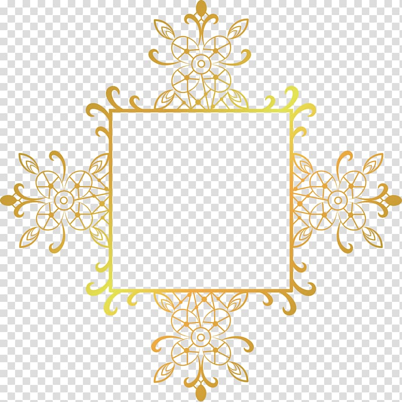 Gold frame , Motif, painted gold frame decorative motifs.