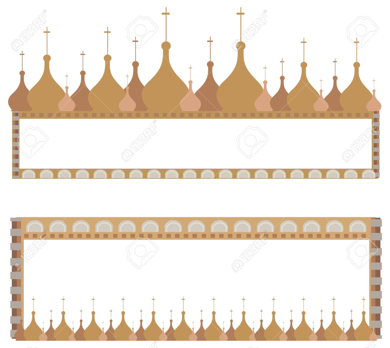 Frame Illustrations With Onion Domes Isolated On White Royalty.