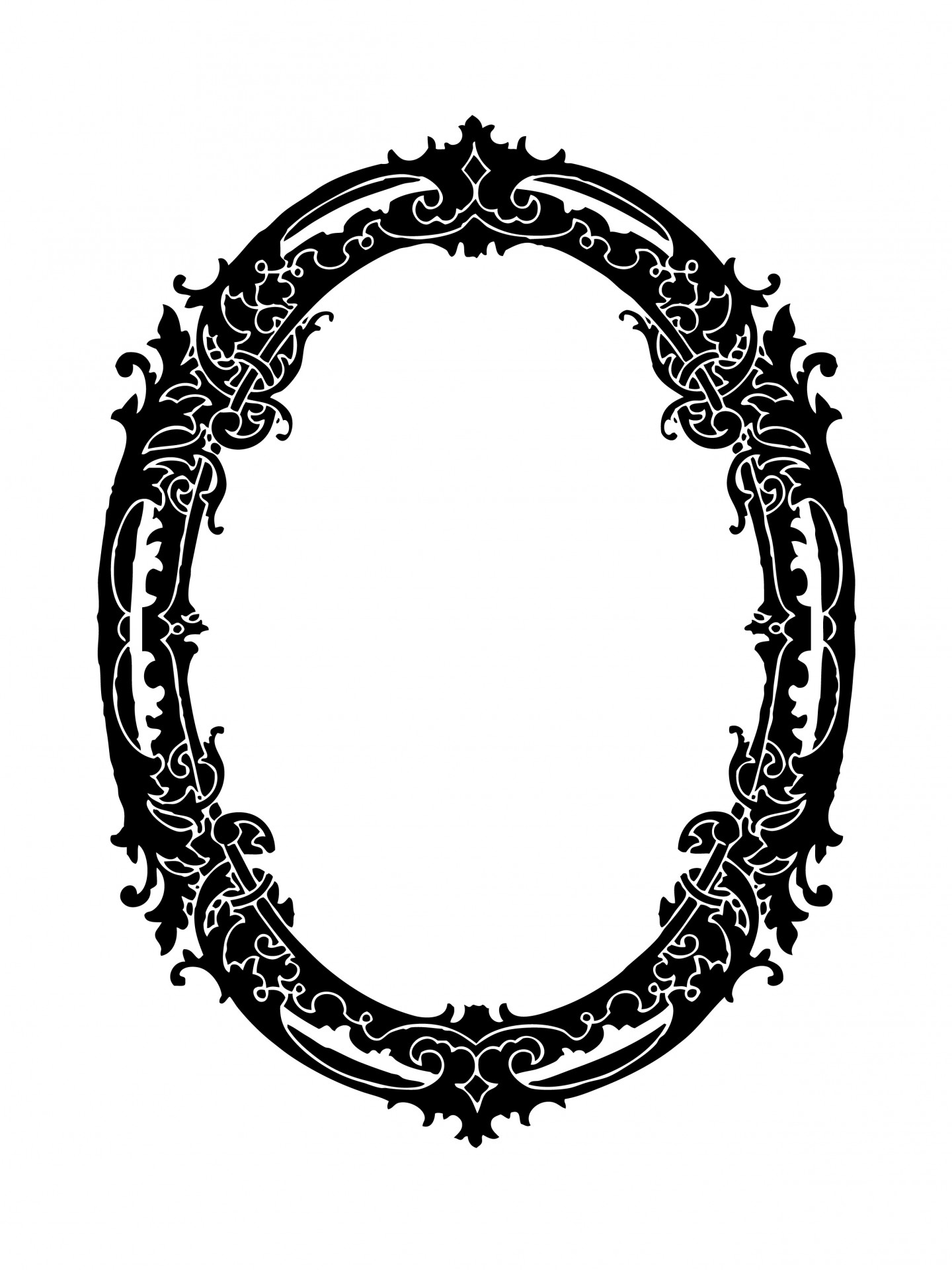 Oval Frame Decorative Clipart Free Stock Photo.