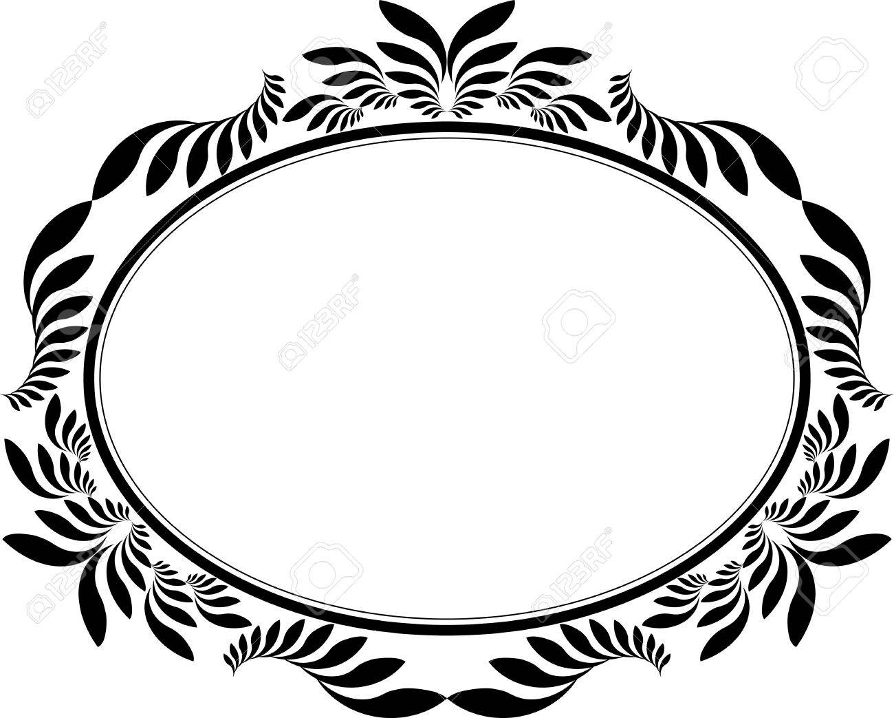 Decorative Oval Clipart.