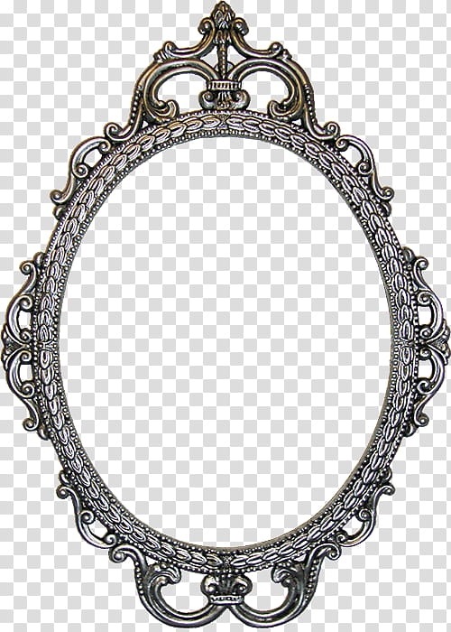 Antique Oval Frames s, round black and gray decorative frame.
