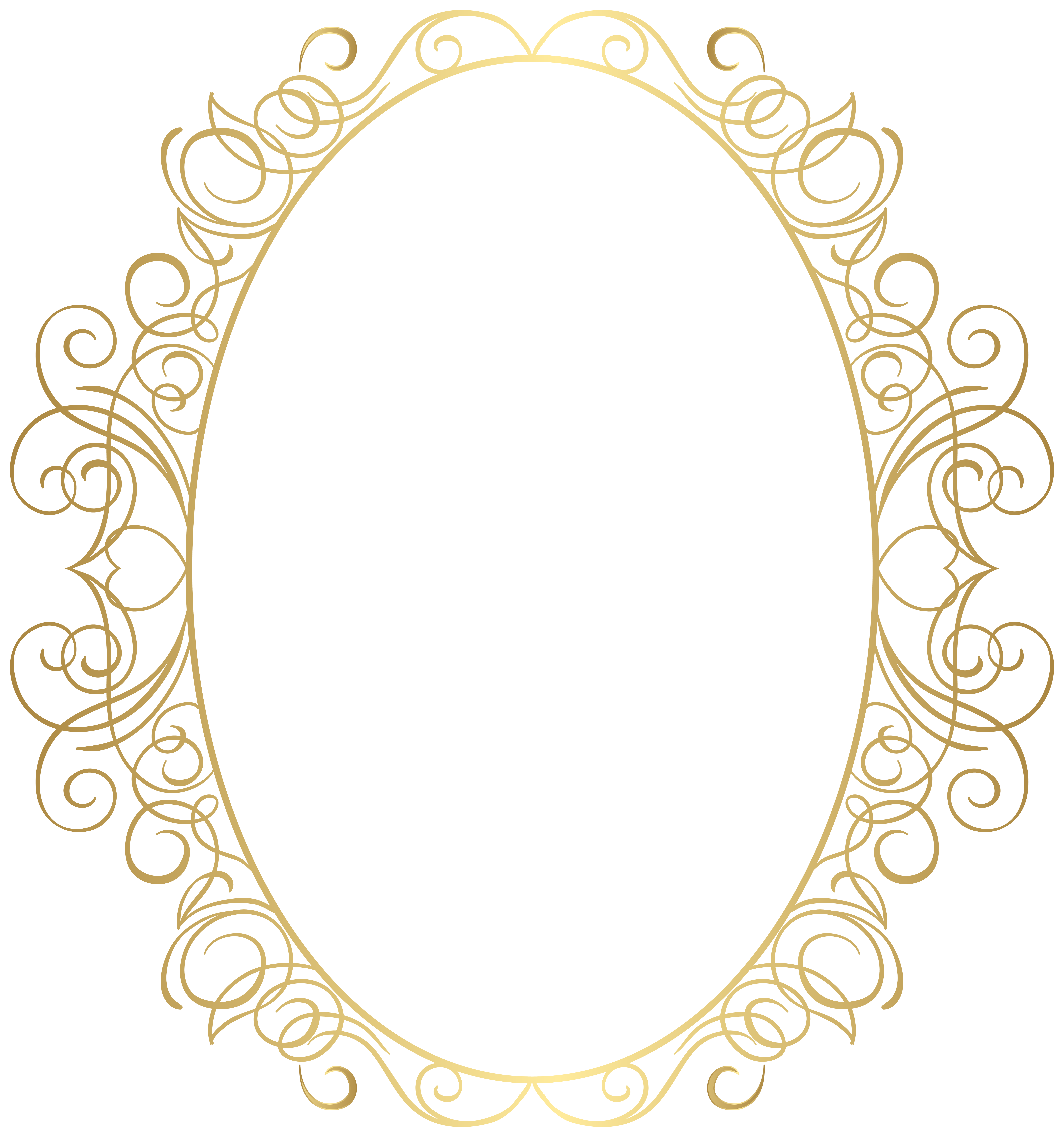 Oval Border Frame PNG Clipart.