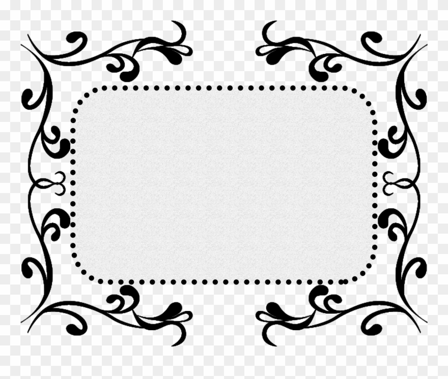 Black Pattern Texture Border Decorative Png And Psd.