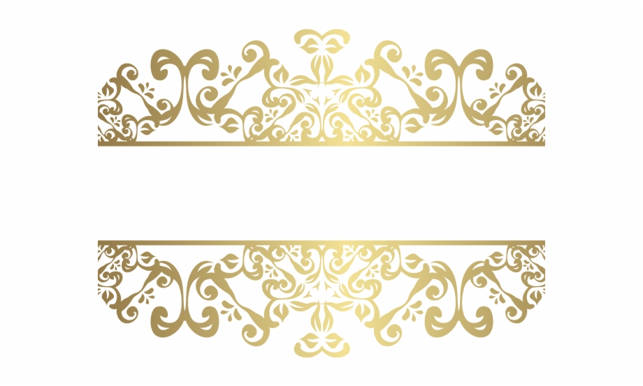 Decorative Line Gold Clipart Gold Png.