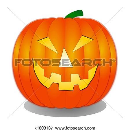 Stock Illustration of isolated halloween pumpkins k1803137.