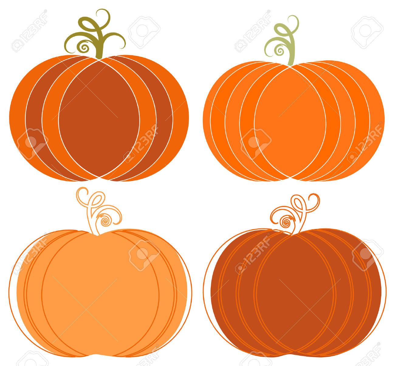 Pumpkins cliparts.