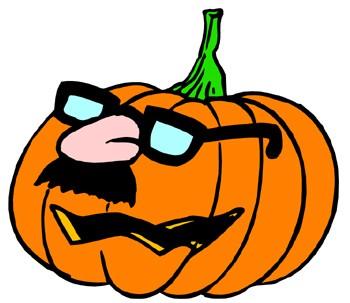 Decorating Halloween Pumpkins Clip Art.