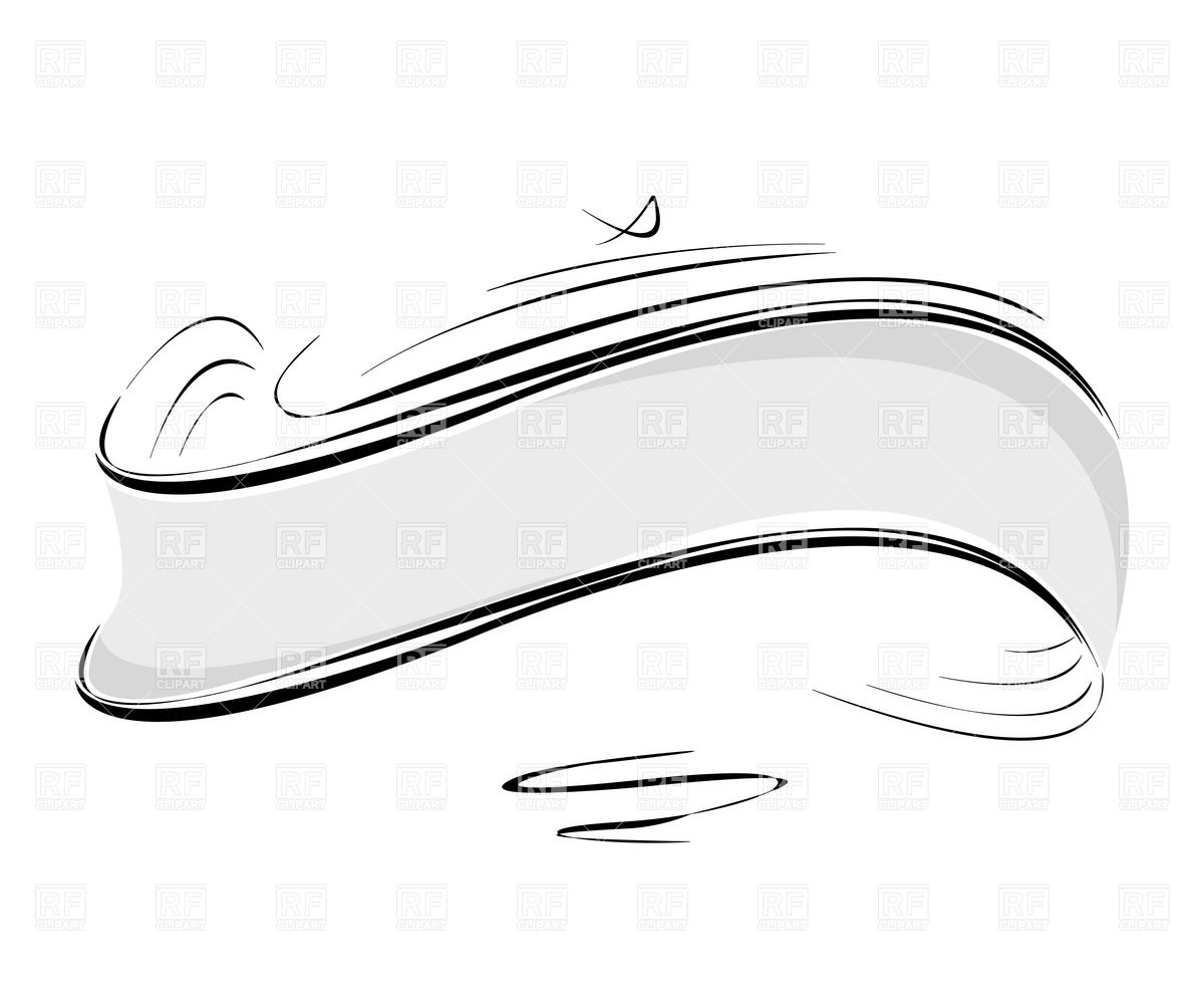 Decorative stylized header (ribbon) Vector Image #6300.