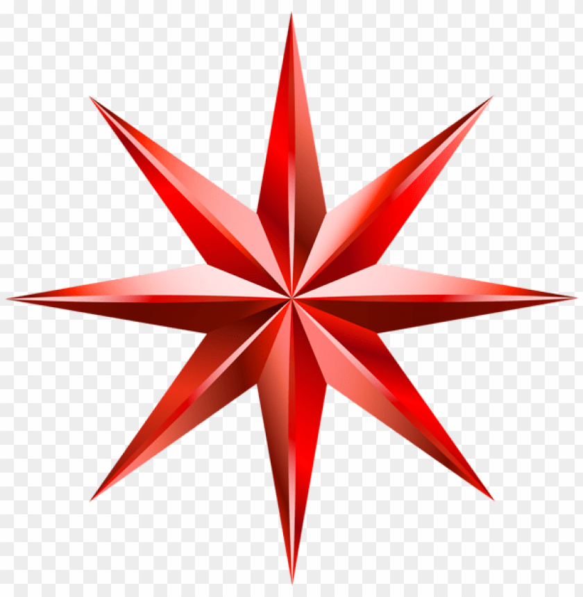 Download red decorative star clipart png photo.