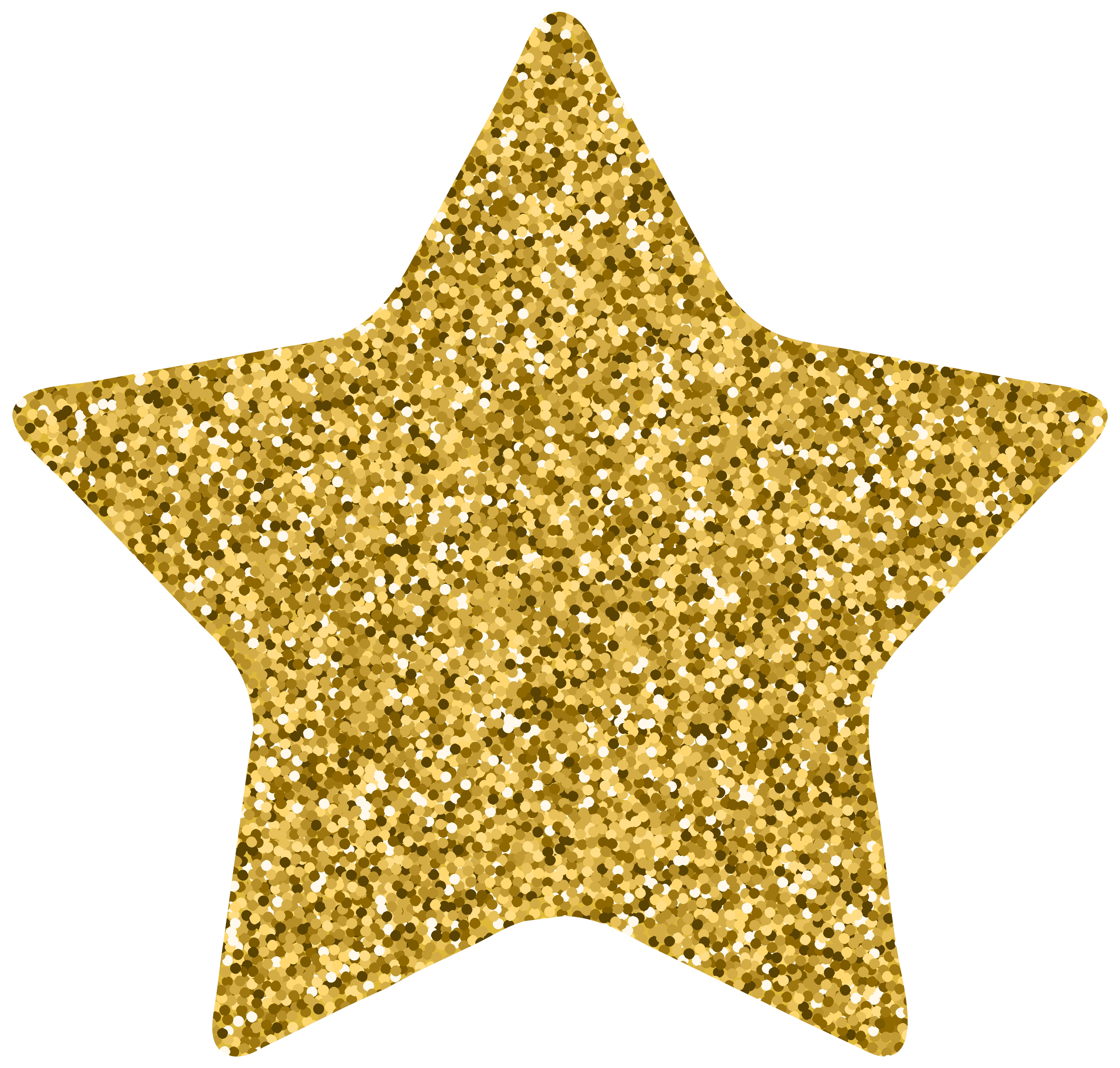 Star Decor Gold Clip Art Image.