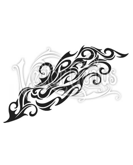 Tribal Tattoo Flash Swirl Decorative Clip Art.