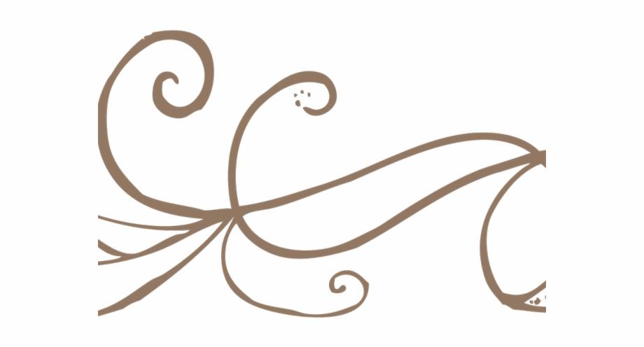 Decorative Line Gold Clipart Swirl.