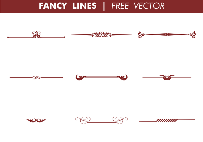 Decorative Fancy Lines Vector.