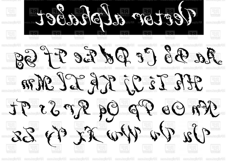 Type Font Decorative Vector Alphabet Vector Clipart.