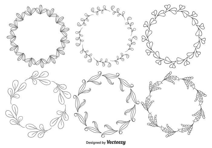Decorative Floral Frames Vector.