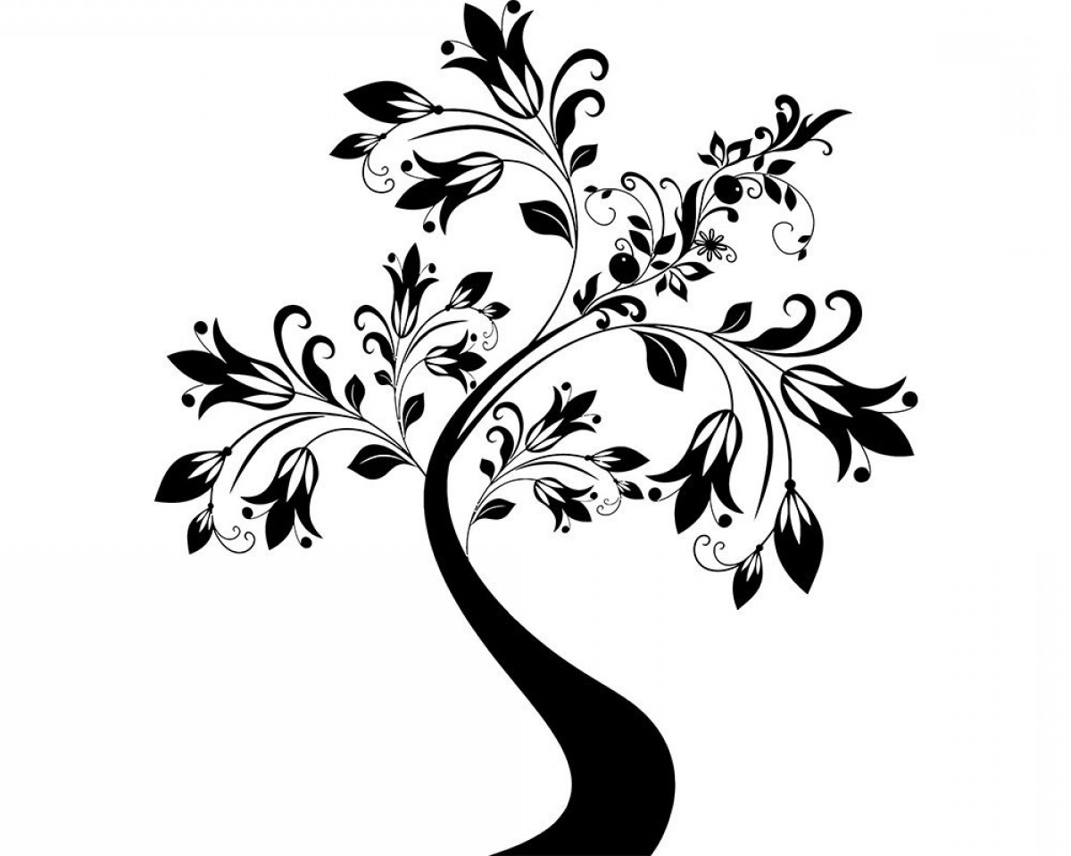 Decorative Tree Vector Png Svg Floral.