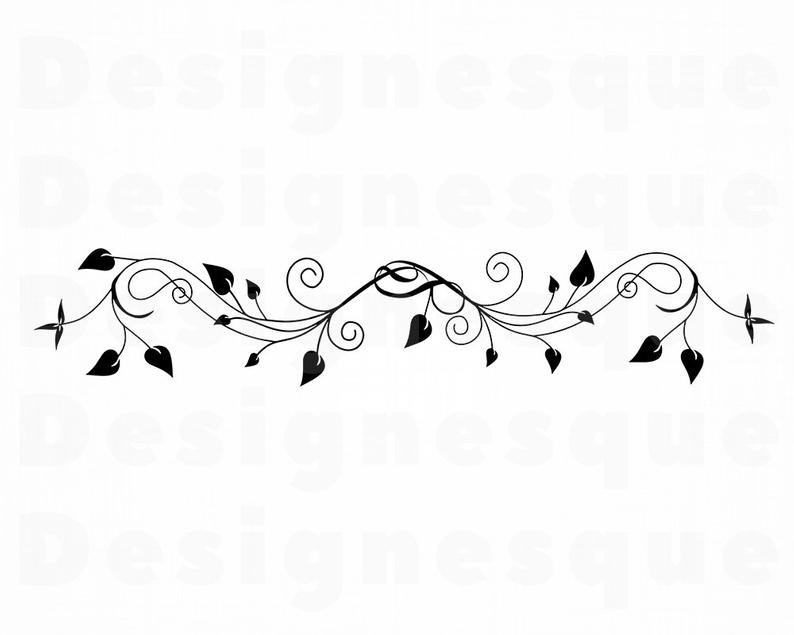 Decorative Vine SVG, Ornamental Vine Svg, Vine Clipart, Vine Files for  Cricut, Vine Cut Files For Silhouette, Vine Dxf, Vine Png, Eps Vector.