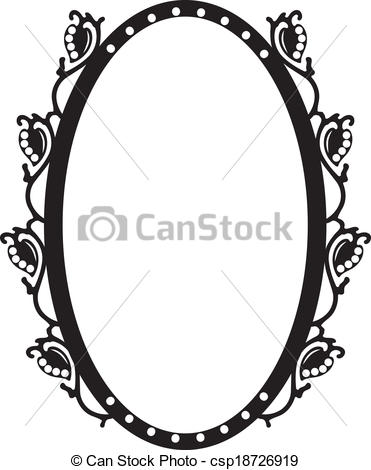 Vector Clip Art of Vintage oval frame.