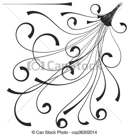 Vector Clip Art of Decorative items for decoration works.