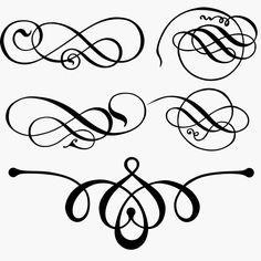 Decorative Flourishes Free Vector Clip Art.