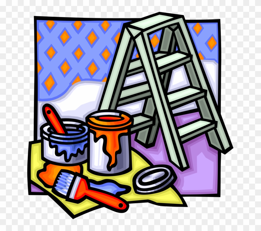 Vector Illustration Of Home Renovation And Decoration.