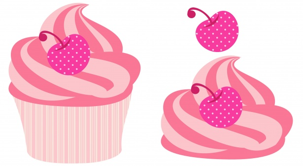 Cupcake Decoupage Clipart Free Stock Photo.