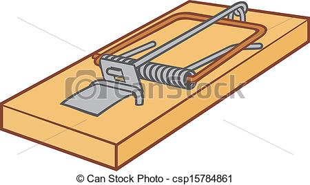 Clip Art Vector of Mousetrap csp15784861.