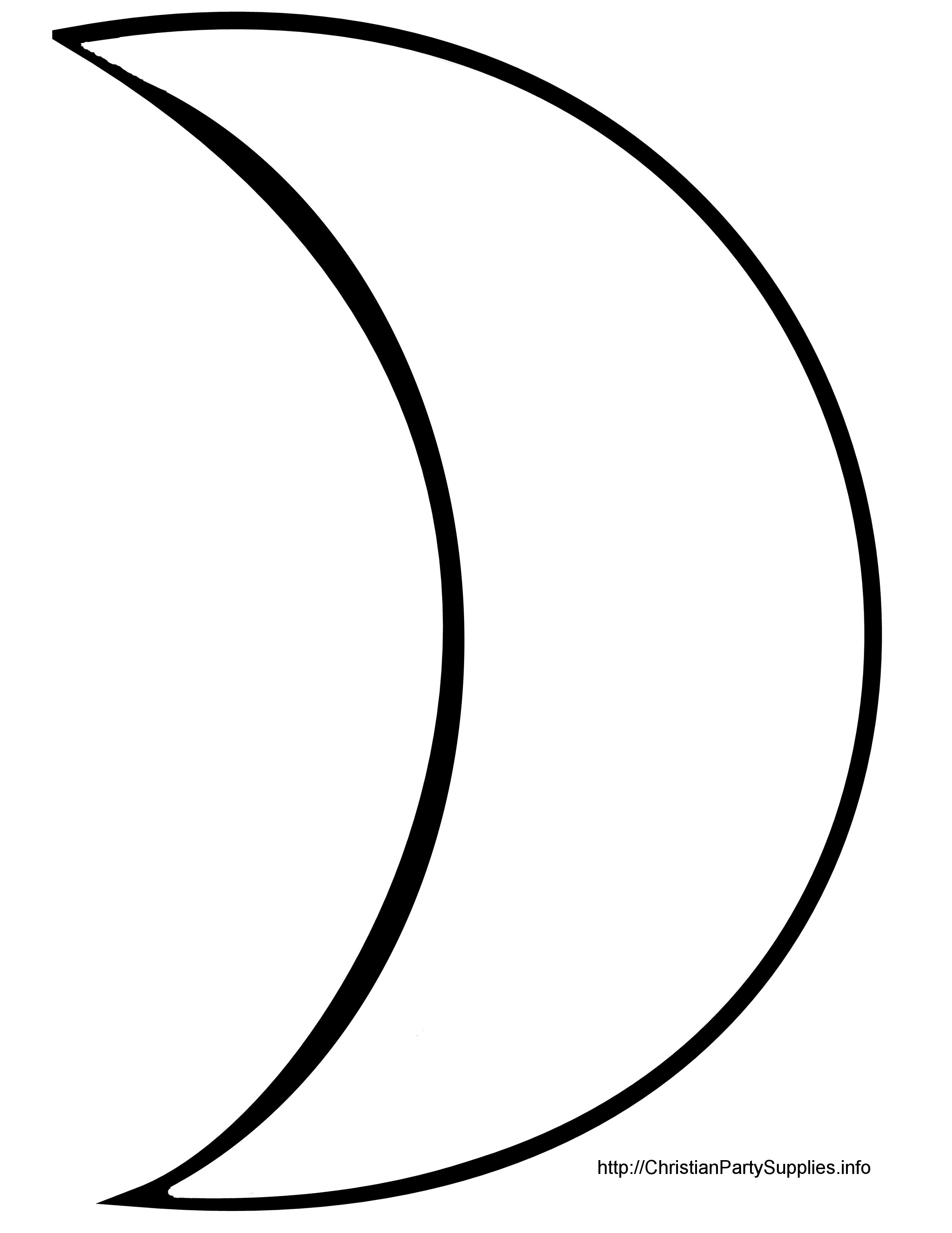 Moon Shape Clipart.