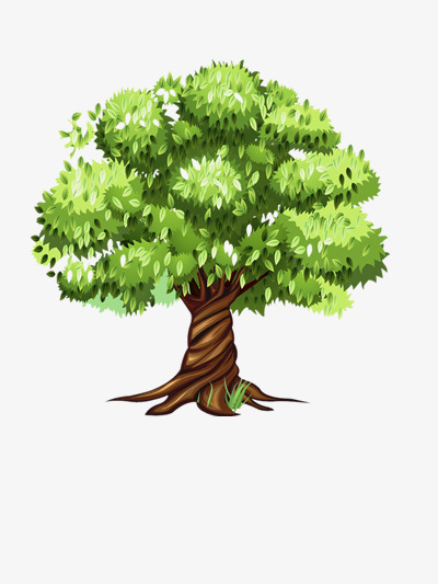 Download Free png Deciduous Trees, Lovely, Cartoon, Plant.