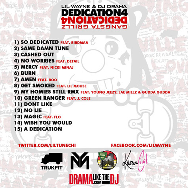 Dedication 3 Back Cover.