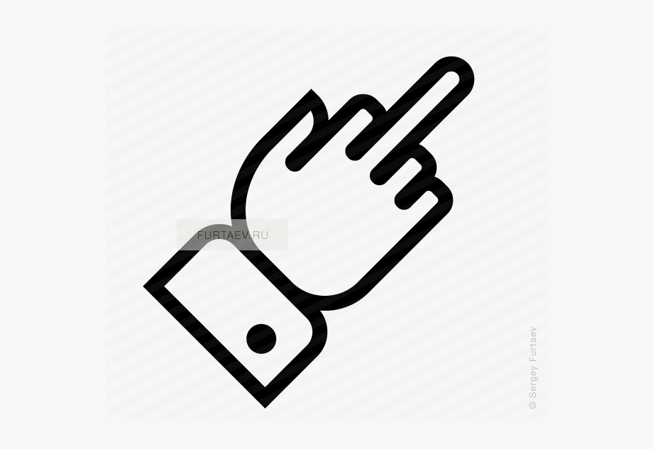 Middle Finger Vector Icon.