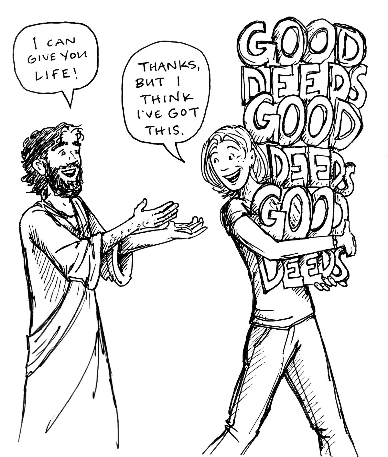 Bad deeds clip art.