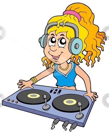 Female dj clipart.