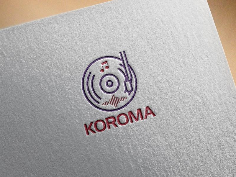 Koroma Dj Logo Design by Faysal Mahmud on Dribbble.