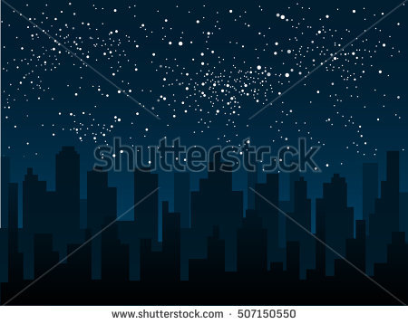 Vector Background Starry Night Sky Stars Stock Vector 327108518.