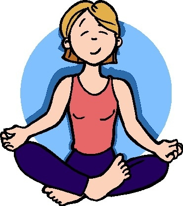 Relaxing Clipart Deep Breathing Cute Borders, Vectors, Animated.