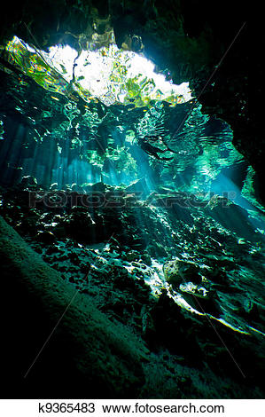 Stock Photo Of Deep Inside The Cenote K9365483.