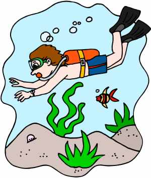 Deep Sea Diving Clipart.
