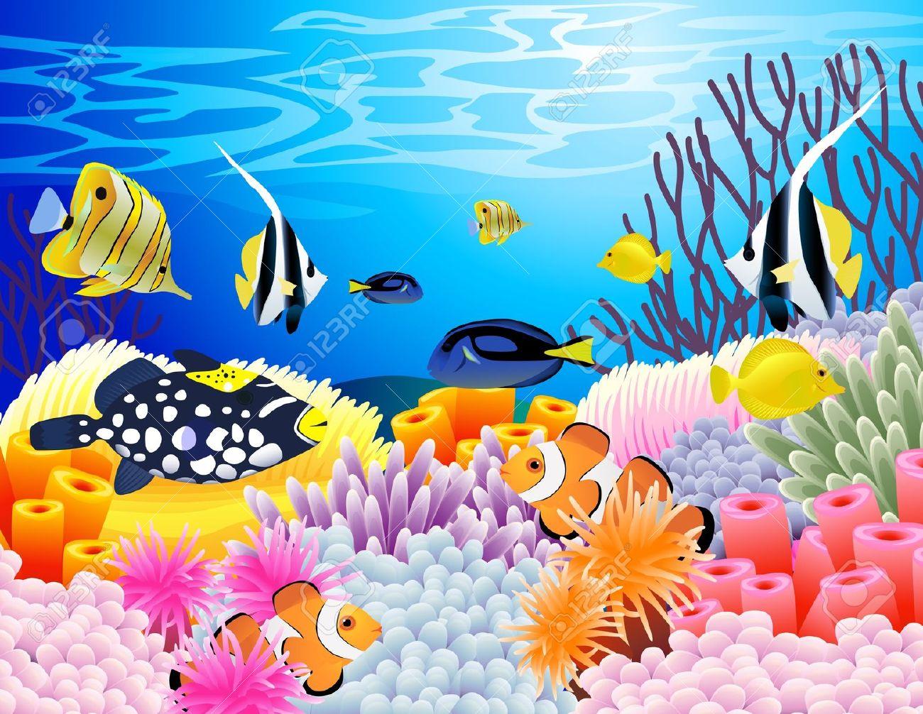 Deep sea scene clipart water free.