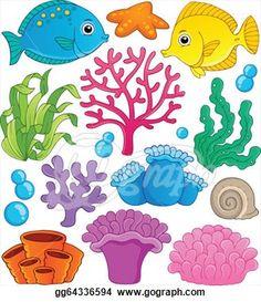 coral cartoon.