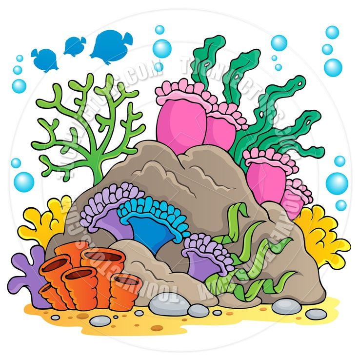 coral cartoon.