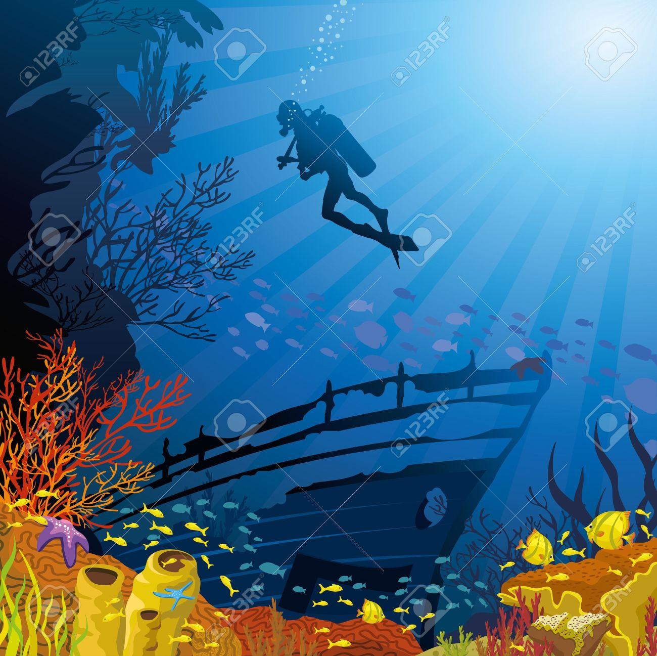 Deep sea clipart.