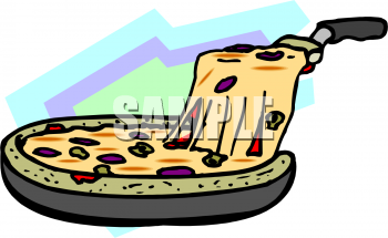Clipart Picture Of A Deep Dish Pizza.