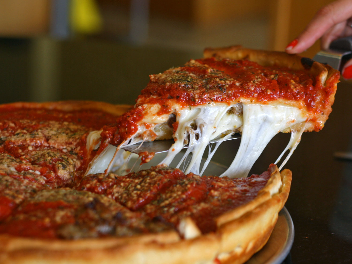 The Best Deep Dish Pizza in Chicago.