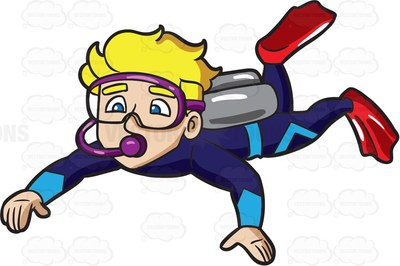 diving Cartoon Clipart.