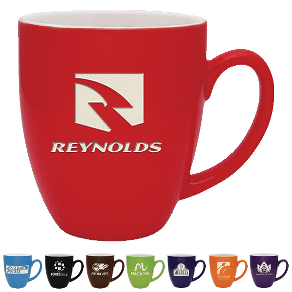 Promotional Deep Etched Ceramic Mugs.