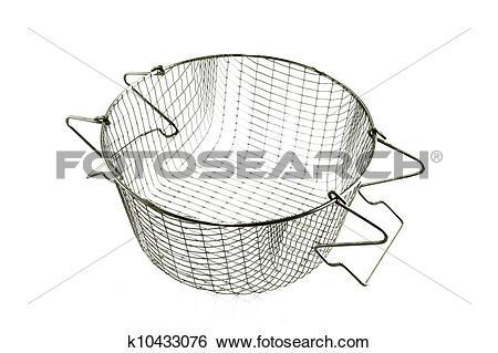 Stock Images of Basket for a deep fat fryer k10433076.