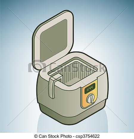 Clipart Vector of deep fryer csp32106553.