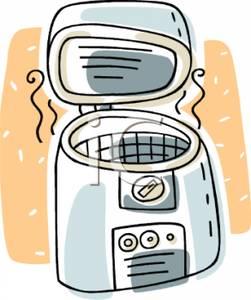 Colorful Cartoon of a Deep Fryer.