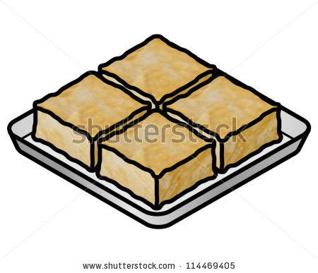 Tray Deep Fried Tofu Soybean Curd Stock Vector 114469405.